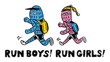 Run boys! Run girls! logo