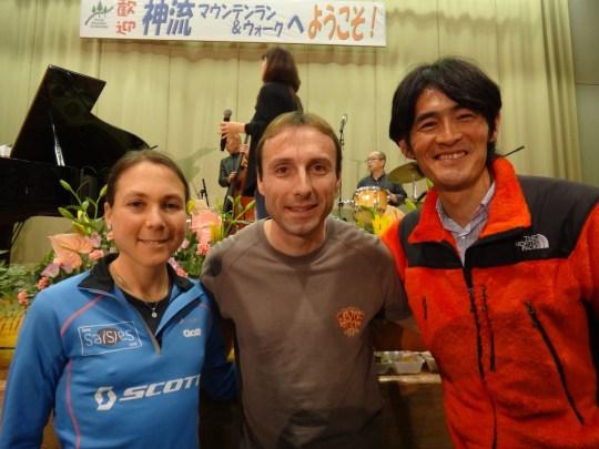 2012年の神流マウンテンラン&ウォークに招待選手として参加、優勝したファビアン・アントリーノス/Fabien Antolinos(フランス)。Photo by Koichi Iwasa of DogsorCaravan.com