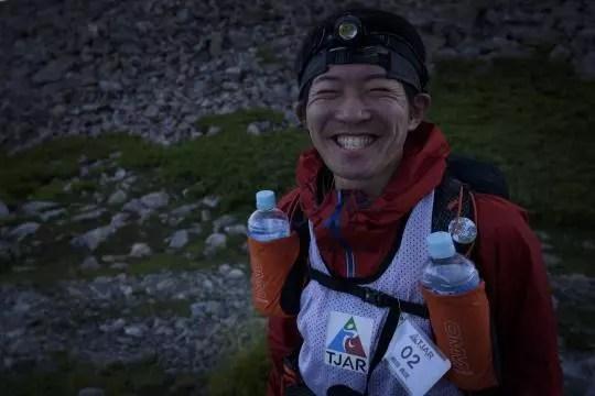 赤石岳の細田典匡は満面の笑顔を見せた。Photo by © 後藤武久 Takehisa Goto