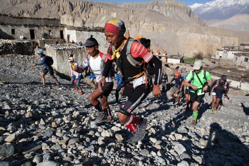 Mustang Trail Race: Start, stage 6. Phu Dorjee Lama Sherpa