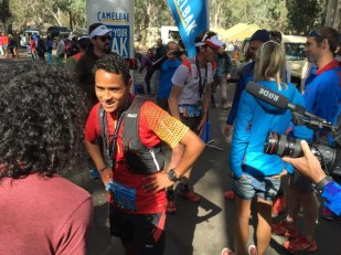 samir tamang finishing buffalo stampede skyrunning event