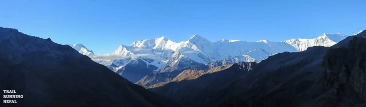 Early morning views of the Annapurna Range as we get ready for Thorung Pass