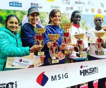 bishnu maya 4th 50km prize giving msig lantau 2015