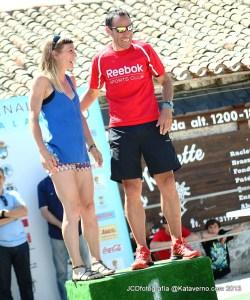 Gran Trail Peñalara 2012 winners: Pedro Bianco - Diana Sanchez.