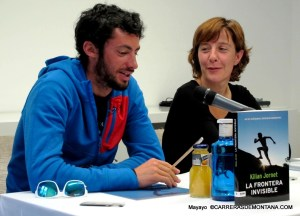 Kilian Jornet presenting his second book at Madrid in 2013