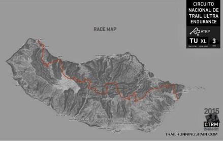 Madeira Island Ultra trail 2015 race course map