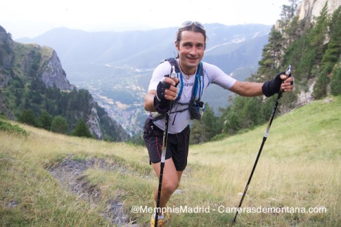 Oscar Pérez on his way to victory at Ultra trail Valls d´Aneu
