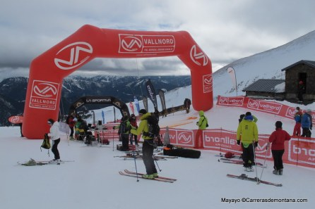 Vertical Race Fontblanca: The finish line.