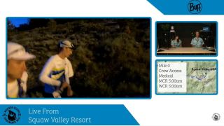 Jim Wamsley at the WSER 100 2021 starting line. Photo: Western States 2021 Live Stream
