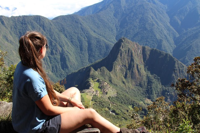 The hike to Machu Picchu Mountain