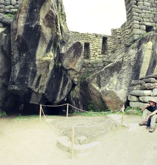 Condor rock carving, with natural rock wings