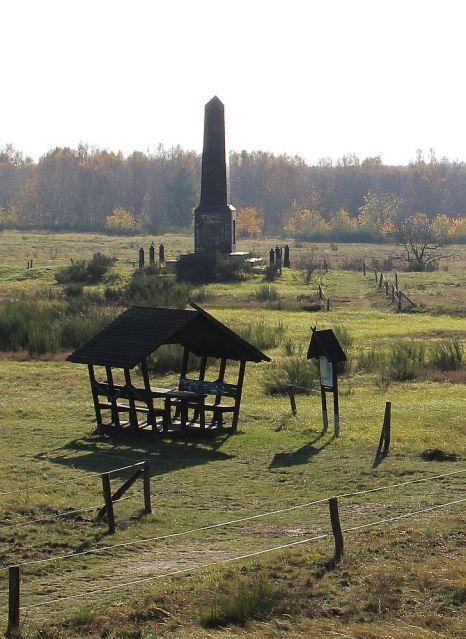 Der Obelisk mit Rastplatz