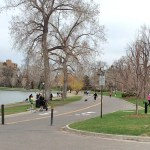 paved trail in Denver's Washington Park