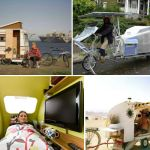 photos of bicycle camper trailers