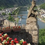 view of the Mosel River Trail from the imperial palace of cochem