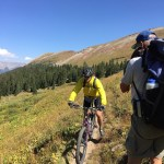 mountain bike rider on the Colorado Trail