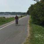 bike rider on Swansea Bike Path