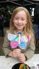 This little girl was really proud of her creation! Very imaginative and intricate. (Photograph taken and published with permission of child and parent).