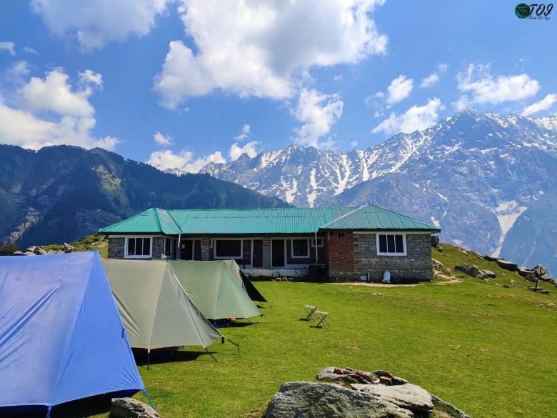 Campsite atop Triund Hill