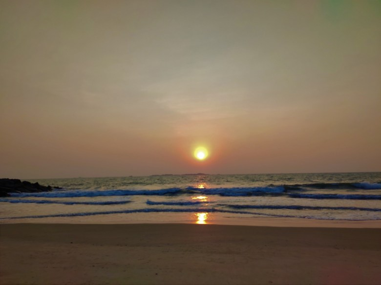 Sunset At Mattu Beach Near Udupi