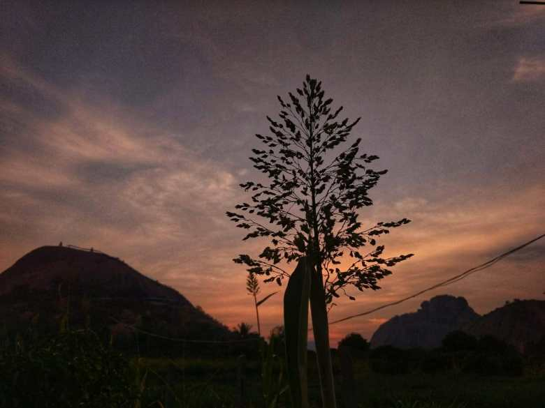 Sunset Silhouette At SRS Hills Ramanagara