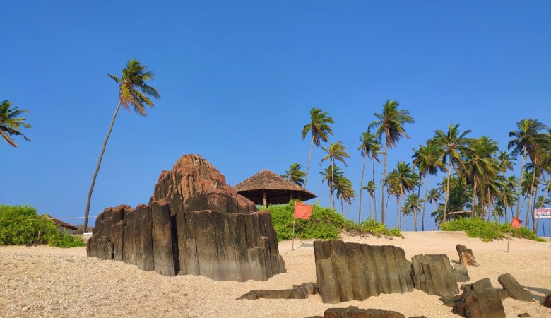 Unique Rock Formations At St Mary's Island Near Malpe in Udupi