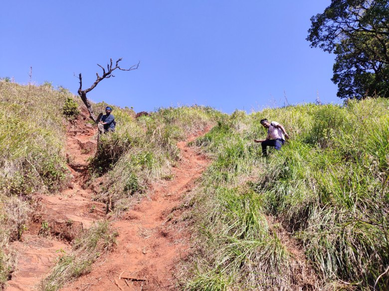 Steep Climb On The Right Trail