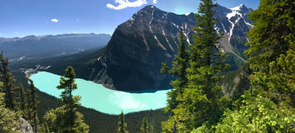 View of Lake Louise from the Big Beehive.