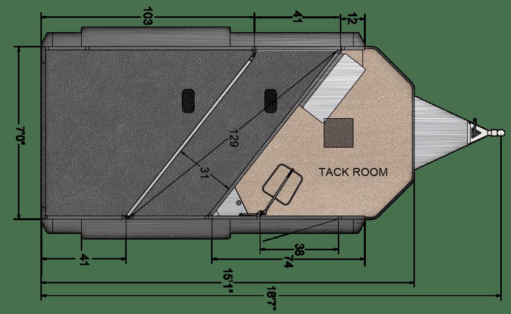 medium resolution of sierra select 2 horse trailer