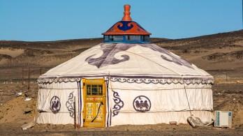 Mongolian Yurt in the Gobi Desert;