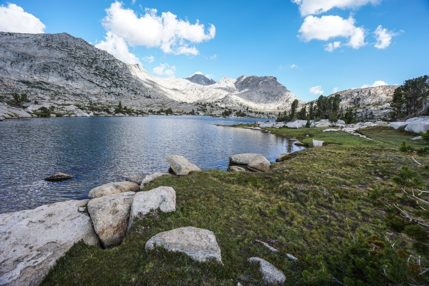 Our final stretch of hiking for the day was through the beautiful Rosemarie Meadow via a nice uphill climb. The mountain views, with granite slabs and conifer forests made for the perfect views to end the day.