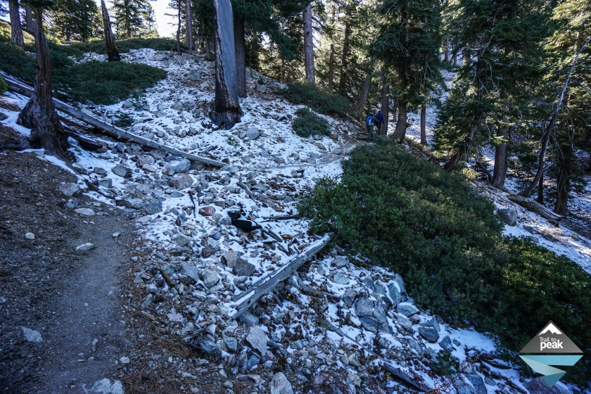 Cucamonga Peak Snow Icehouse Canyon