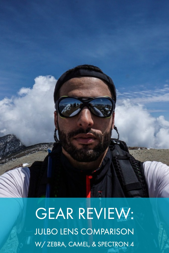 Gear Review: Julbo Lens Comparison For The Spectron 4, Zebra Photochromic, and Camel Photochromic