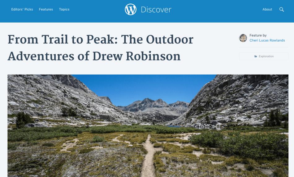 Trail to Peak WordPress Discover