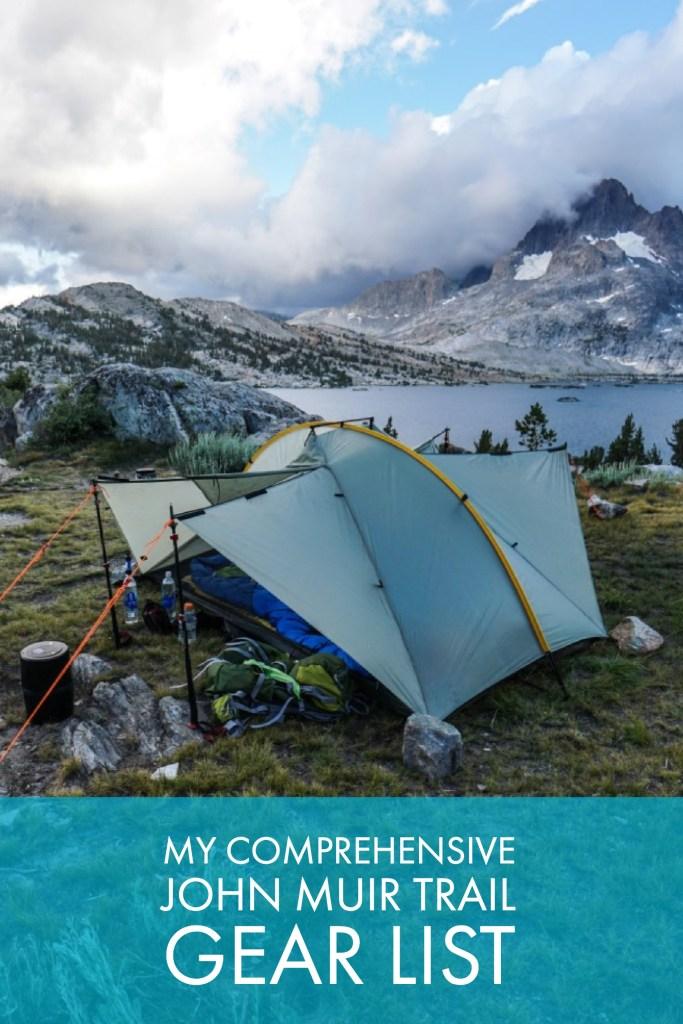 My Comprehensive John Muir Trail Gear List