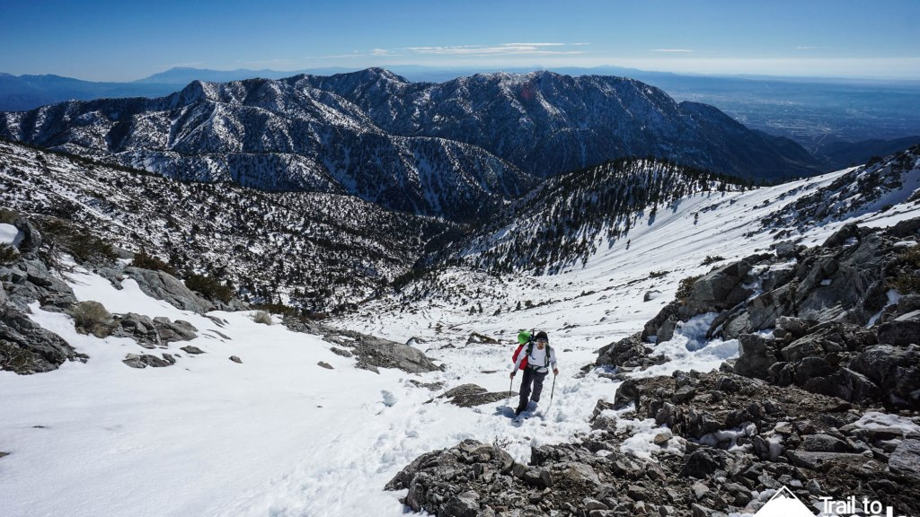Winter Ascent Climb Hike Baldy Bowl Mt. Baldy Ski Hut Trail Guide