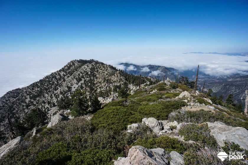 Hiking Falling Rock Canyon To Sugarloaf And Ontario Peak - Trail to on
