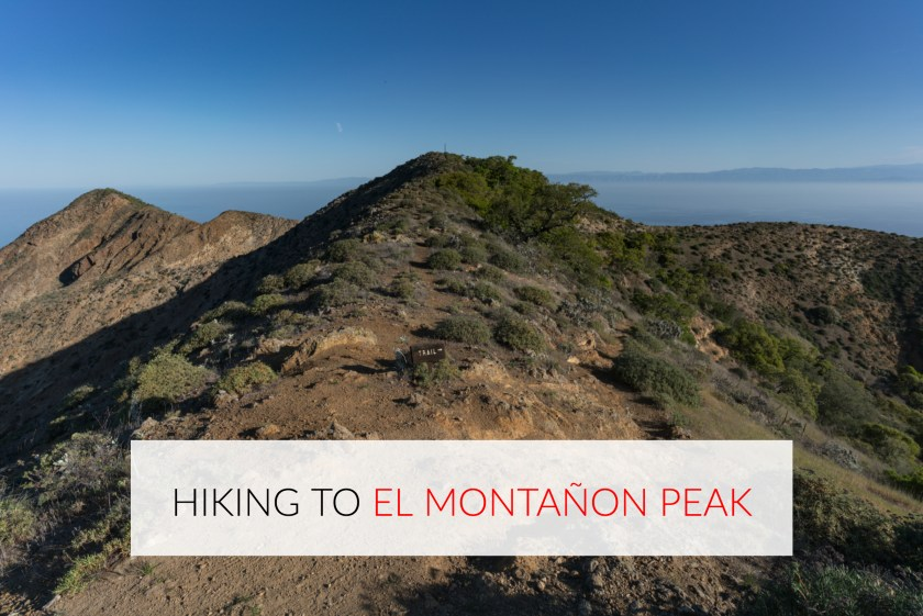 Hiking to El Montanon Peak – Santa Cruz Island