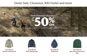 Get Up to 50% Off At REI's End of Season Clearance!