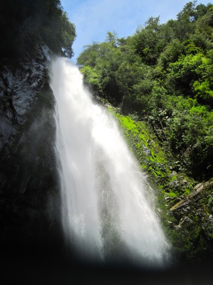 You get to see spectacular waterfalls, and sometimes you can go behind them.