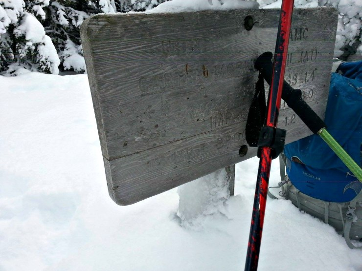carter dome summit sign