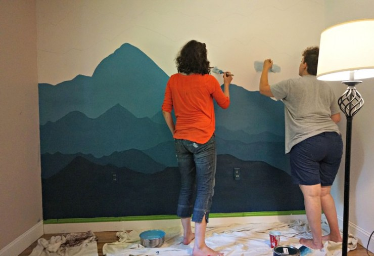 mountain mural