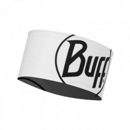 BUFF HEADBAND LOGO WHITE