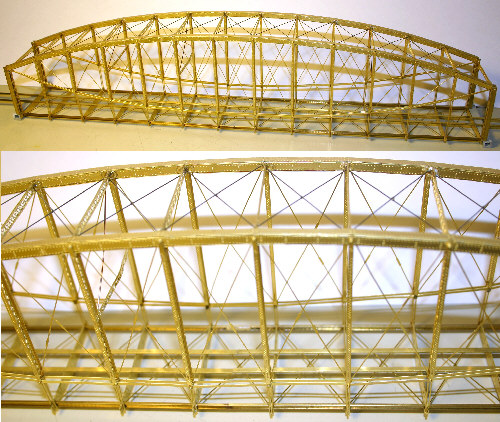 Etched Brass Lenticular Truss Bridge