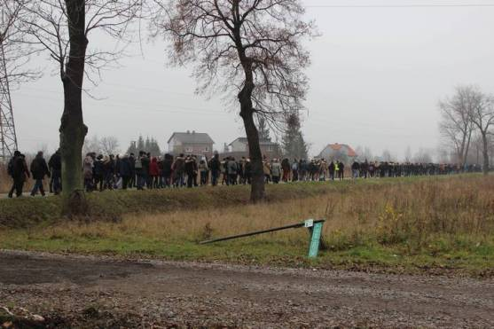Marche silencieuse vers Birkenau. 18/11/14
