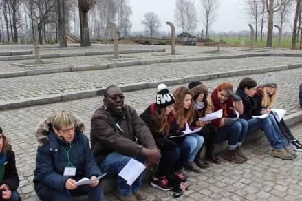 Birkenau, 18/11/14. Préparation de la lecture des noms