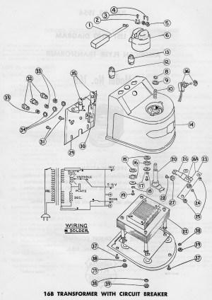 American Flyer Transformer 16B Parts List & Diagram   TrainDR