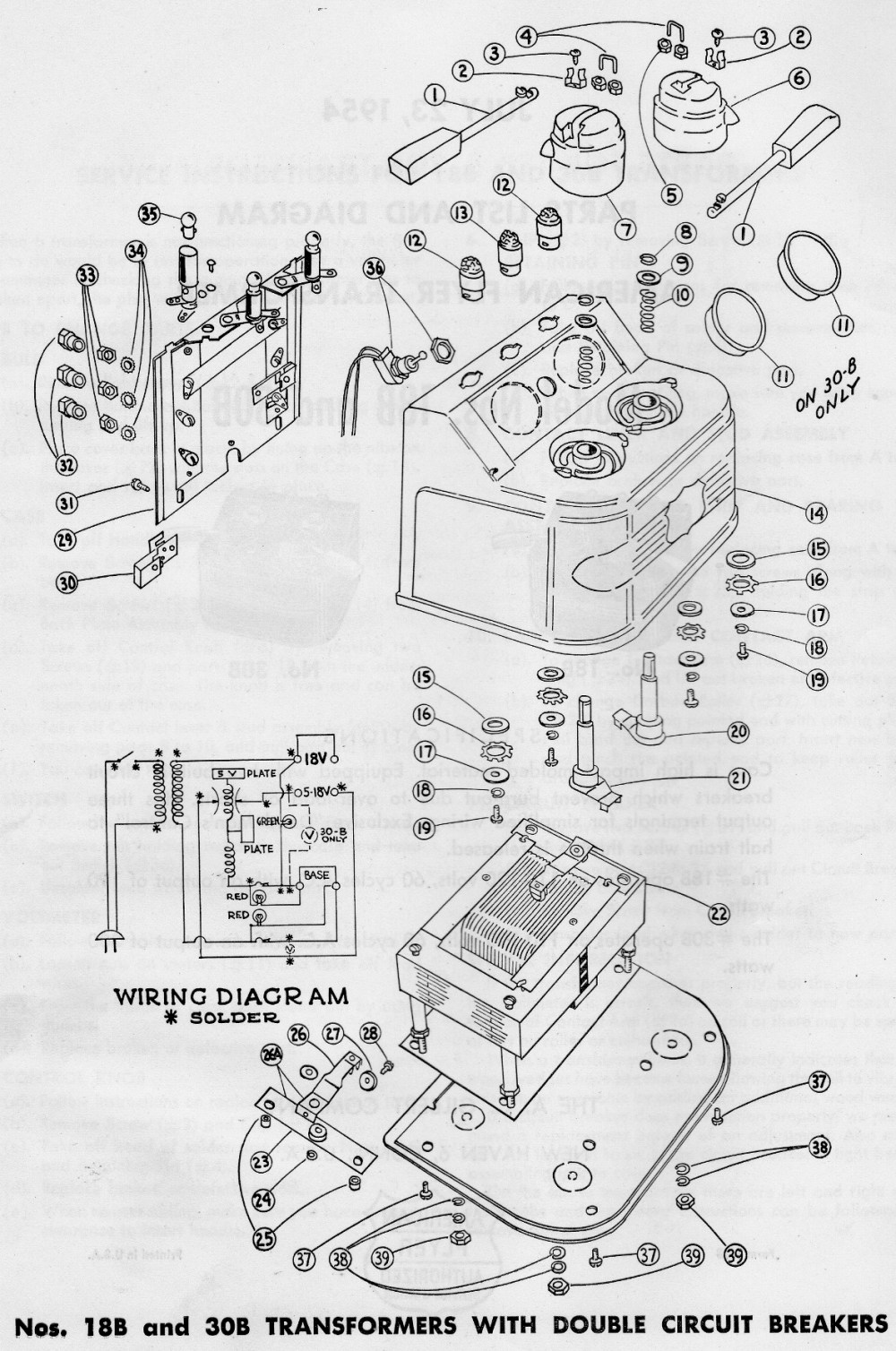 medium resolution of american flyer transformer no 18b 30b parts list and diagram page 2