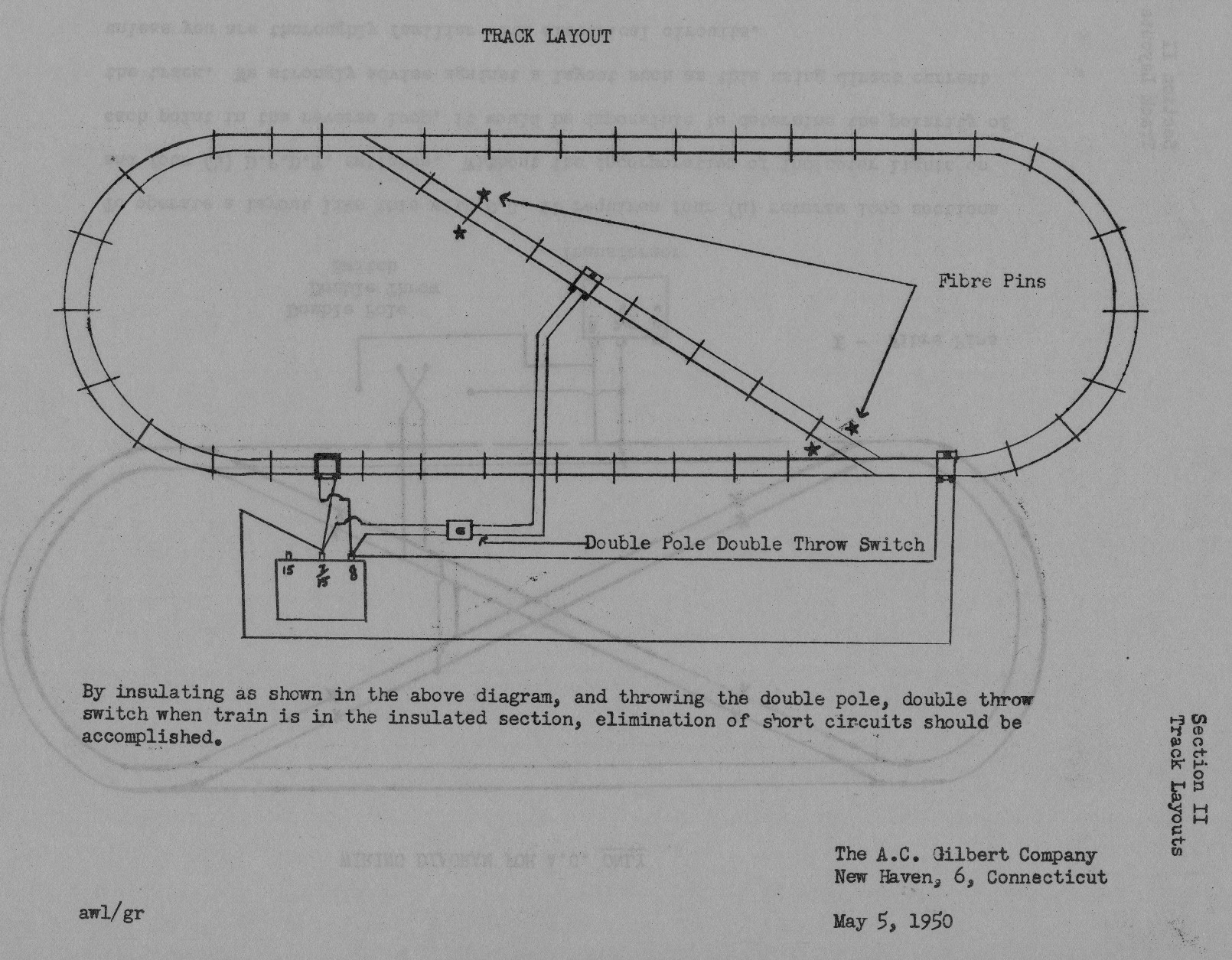 loop wiring diagram casablanca fan motor american flyer reverse layout | traindr