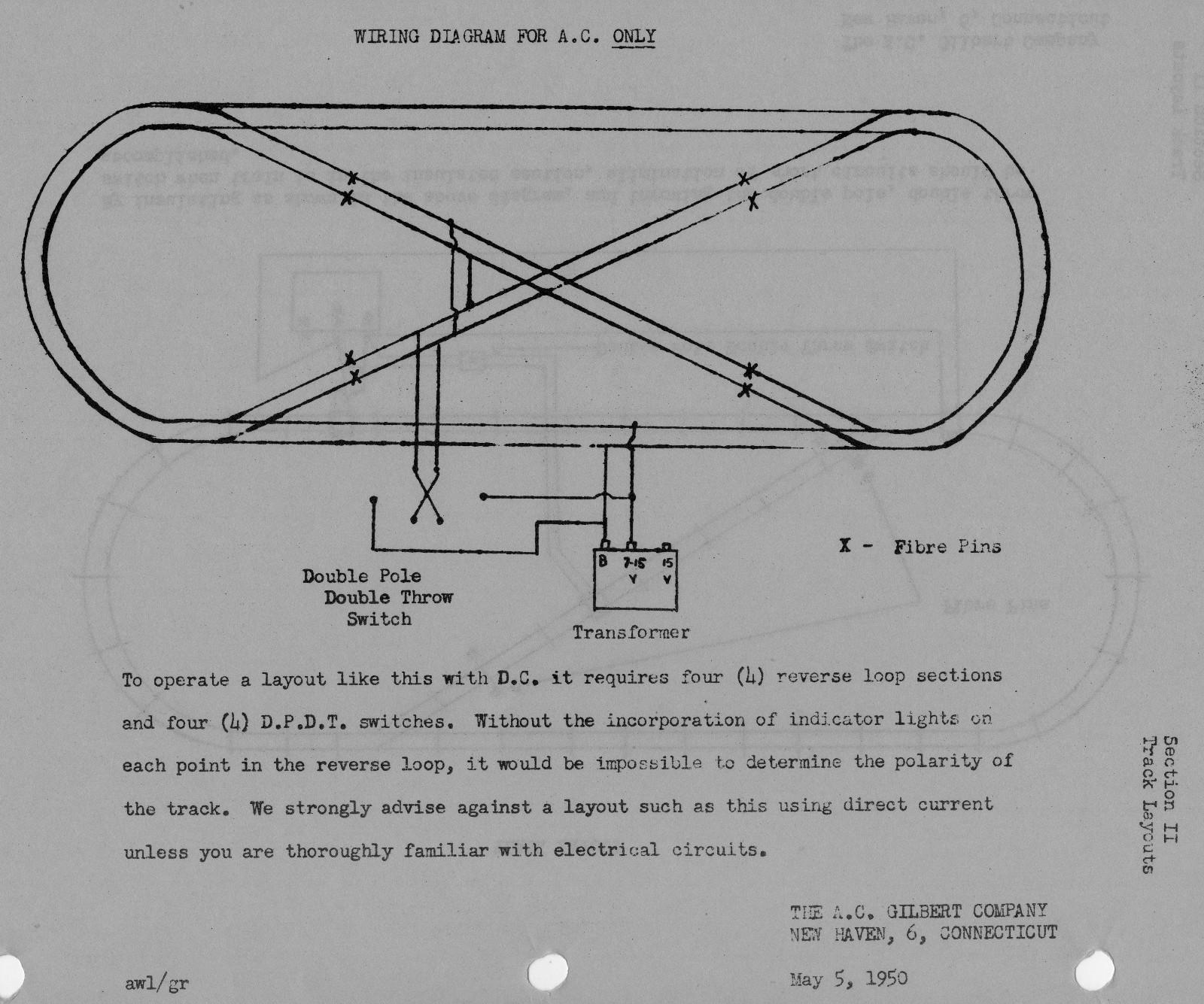 light wiring diagram loop trane xe1000 american flyer reverse layout traindr